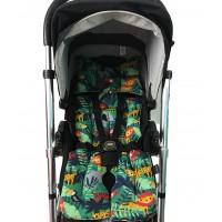 Yeşil Ormanlı - Siyah Bebek Arabası Minderi