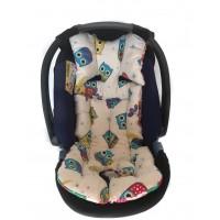 Filli – Baykuşlu Bebek Arabası Minderi
