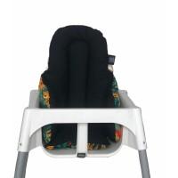Yeşil Ormanlı - Siyah Mama Sandalyesi  Minderi