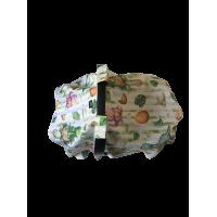 Yeşil Dinazor Poplin Puset Örtüsü