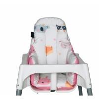 Sevimli Yüzler - Pembe Yıldız Mama Sandalyesi Minderi