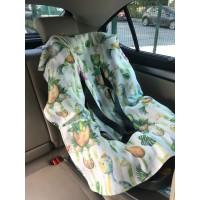 Bebek Hayvan - Yeşil Dinazor Müslin Oto Koltuk Kılıfı