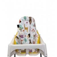 Mutlu Orman - Sarı Yıldızlı Mama Sandalyesi Minderi