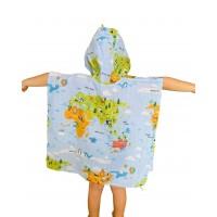 Dünya Haritası Müslin Panço 1-3 Yaş