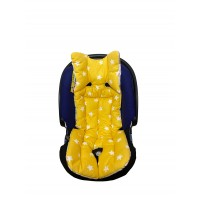 Mutlu Orman - Sarı Yıldızlı Bebek Arabası Minderi