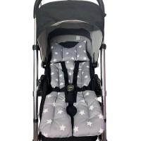 Atlas – Gri Yıldızlı Bebek Arabası Minderi