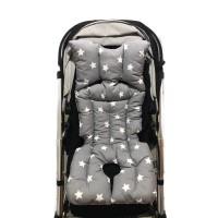Gri Zemin Beyaz Yıldız – Gri Yıldız Bebek Arabası Minderi