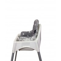 Atlas – Gri Yıldızlı Mama Sandalyesi Minderi