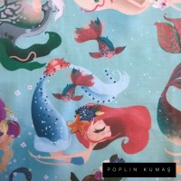 Ön Renk/Desen Seçiniz: Poplin Deniz Kızı Arka Renk/Desen Seçiniz: Poplin Deniz Kızı