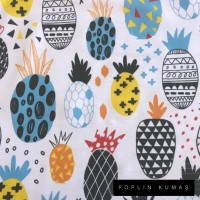 Ön Renk/Desen Seçiniz: Poplin Ananas Arka Renk/Desen Seçiniz: Poplin Ananas