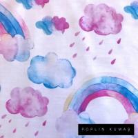 Arka Renk/Desen Seçiniz: Poplin Gökkuşağı Ön Renk/Desen Seçiniz: Poplin Gökkuşağı