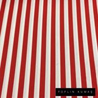 Arka Renk/Desen Seçiniz: Poplin Kırmızı Çizgili  Ön Renk/Desen Seçiniz: Poplin Kırmızı Çizgili