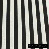 Ön Renk/Desen Seçiniz: Poplin Siyah Çizgili  Arka Renk/Desen Seçiniz: Poplin Siyah Çizgili