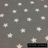 Arka Renk/Desen Seçiniz: Gri Zemin Beyaz Yıldız