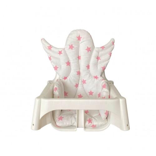 Yıldızlı Melek Kanatlı Mama Sandalyesi Minderi