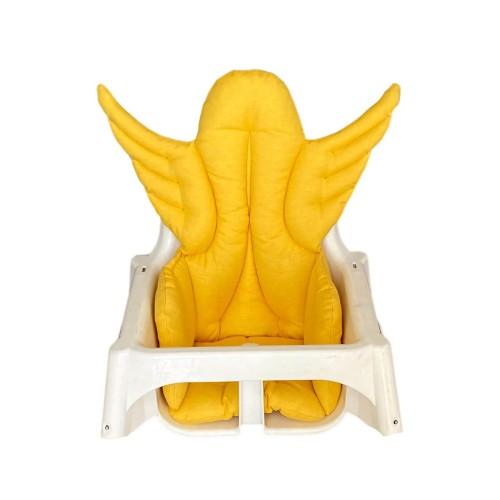 Sarı Melek Kanatlı Mama Sandalyesi Minderi