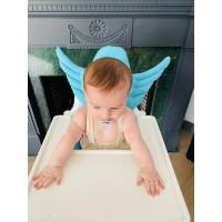 Mavi Melek Kanatlı Mama Sandalyesi Minderi