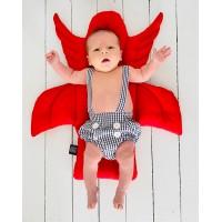 Kırmızı Melek Kanatlı Mama Sandalyesi Minderi