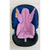 Lila Melek Kanatlı Mama Sandalyesi Minderi