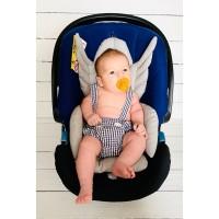 Gri Melek Kanatlı Mama Sandalyesi Minderi