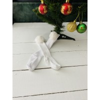 Beyaz Ponponlu Çorap