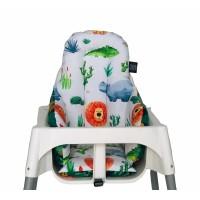Safari - Yeşil Ormanlı Mama Sandalyesi Minderi