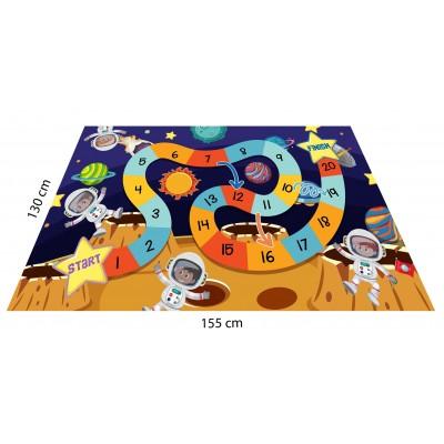 Uzay Konseptli Oyun Halısı - 155*130