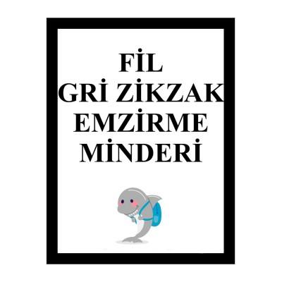 Fil -  Gri Zikzak Emzirme Minderi (1)