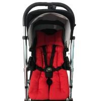 Yeşil Ormanlı - Kırmızı Bebek Arabası Minderi