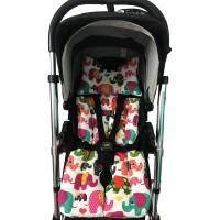 Filli - Pembe Yıldızlı Bebek Arabası Minderi
