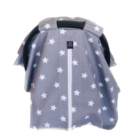 Gri Zemin Beyaz Yıldızlı Puset Örtüsü